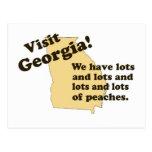 Visita Georgia…. Tenemos porciones de melocotones Tarjetas Postales