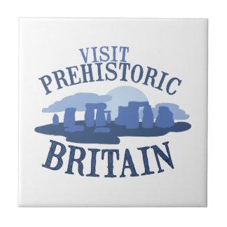 Visita Gran Bretaña prehistórica Azulejo Cuadrado Pequeño