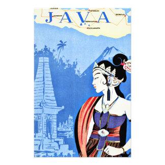 Visita Java Indonesia del vintage de Singapur Papelería