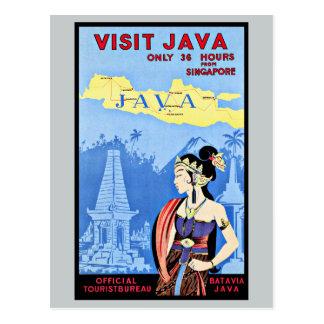 Visita Java Indonesia del vintage de Singapur Postal