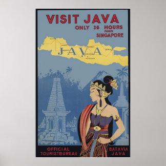 Visita Java solamente 36 horas de Singapur Póster