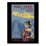 Visita Java solamente 36 horas de Singapur Tarjeta Postal