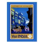 Visita la India Tarjeta Postal