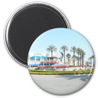 Visita Long Beach, CA Imán Redondo 5 Cm