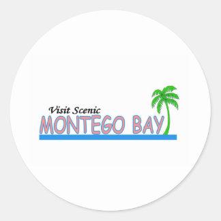 Visita Montego Bay escénico Pegatina Redonda