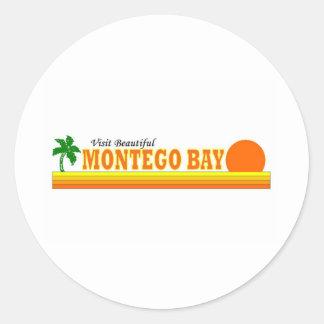 Visita Montego Bay hermoso Pegatina Redonda