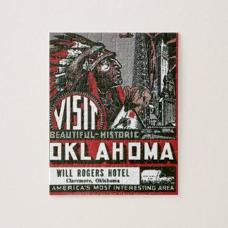 Visita Oklahoma con el jefe indio Puzzles Con Fotos