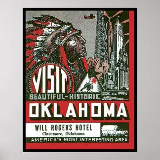 Visita Oklahoma histórica hermosa Poster