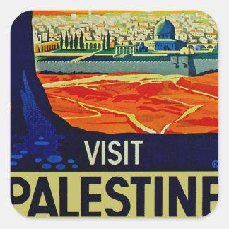 Visita Palestina Pegatina Cuadrada