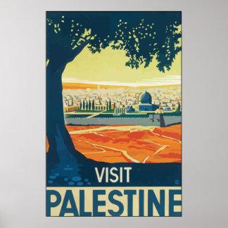 Visita Palestina, vintage Impresiones
