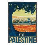 Visita Palestina, vintage Tarjeton
