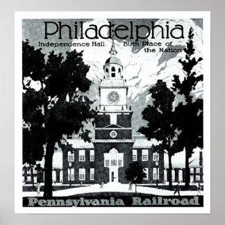Visita Philadelphia en el ferrocarril de Póster