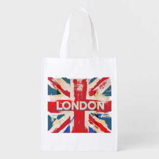 Visita poster del vintage de Londres, Inglaterra Bolsa De La Compra