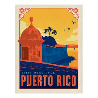 Visita Puerto Rico hermoso Tarjetas Postales
