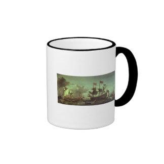 Visita real a la flota, el 5 de junio de 1672 taza de dos colores