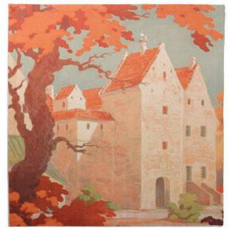 Visita retra Dinamarca del poster del vintage Servilletas De Papel