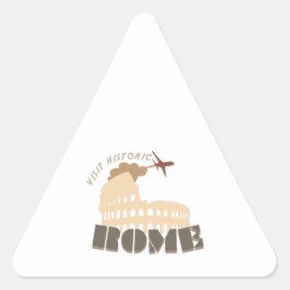 Visita Roma histórica Calcomanía Triangulo Personalizadas