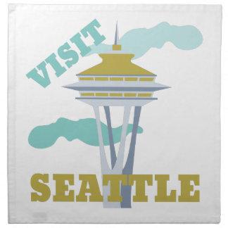 Visita Seattle Servilleta Imprimida