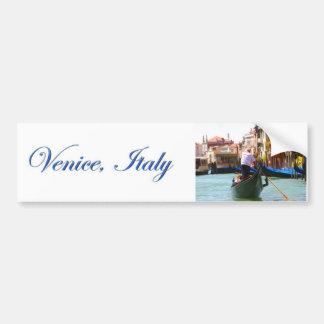 Visita turística de excursión en góndola Venecia I Etiqueta De Parachoque