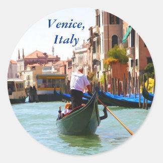 Visita turística de excursión en góndola Venecia Pegatina Redonda