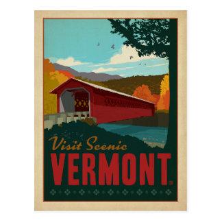 Visita Vermont escénico Tarjeta Postal