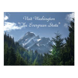 Visita Washington el estado imperecedero Tarjeta Postal