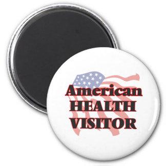 Visitante americano de la salud imán redondo 5 cm