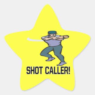 Visitante del tiro pegatinas forma de estrellaes personalizadas