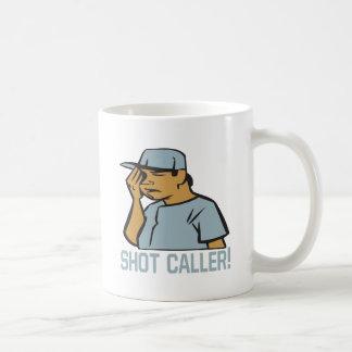 Visitante del tiro taza de café