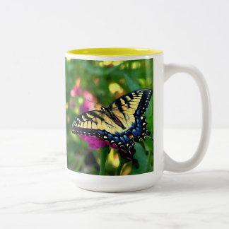 Visitante del verano taza de café de dos colores