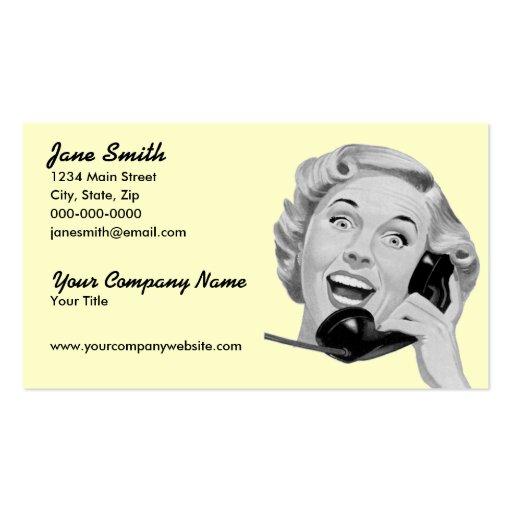 Visitante retro del teléfono plantillas de tarjetas de visita