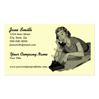 Visitante retro del teléfono tarjeta de visita