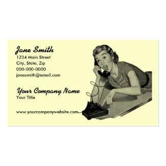 Visitante retro del teléfono tarjetas de visita