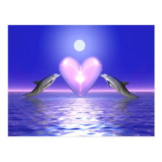 Visitantes del corazón - delfínes postales
