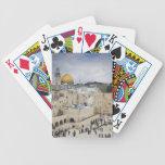 Visitantes, plaza occidental de la pared y bóveda  cartas de juego