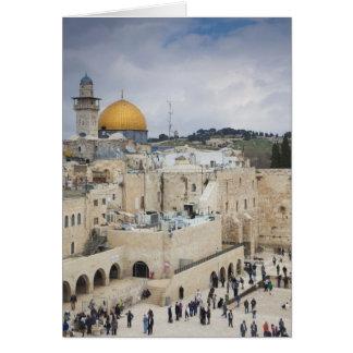 Visitantes, plaza occidental de la pared y bóveda  tarjeta de felicitación