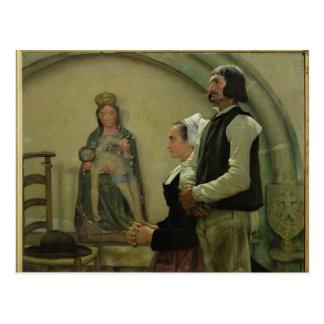 Visitar a la Virgen de Benodet 1898 Postal