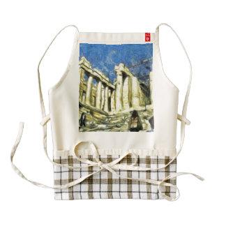 Visitar la acrópolis en Atenas Delantal Zazzle HEART