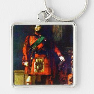 'Visitas Scotland de rey George IV Llavero Cuadrado Plateado