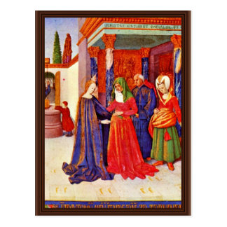 Visitation By Fouquet Jean (Best Quality) Post Card