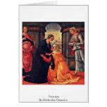 Visitation By Ghirlandaio Domenico Greeting Card