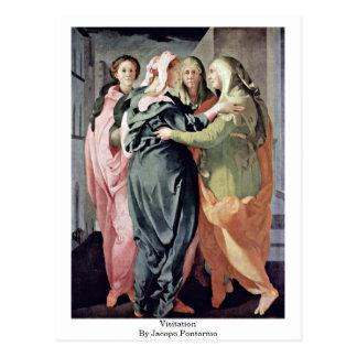Visitation By Jacopo Pontormo Postcard