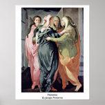 Visitation By Jacopo Pontormo Print
