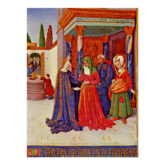 Visitation by Jean Fouquet Poster