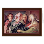 Visitation  By Pontormo Jacopo Card