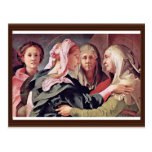 Visitation  By Pontormo Jacopo Post Cards