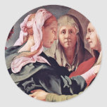 Visitation  By Pontormo Jacopo Stickers
