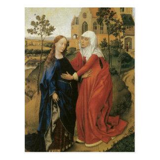 Visitation de Maria - Rogier van der Weyden Postal