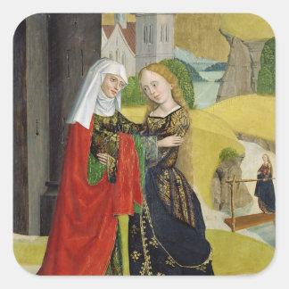 Visitation del altar de la bóveda, 1499 pegatina cuadrada