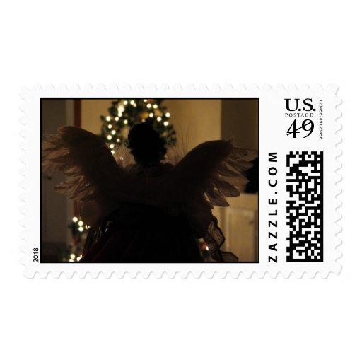 Visitation del navidad timbre postal